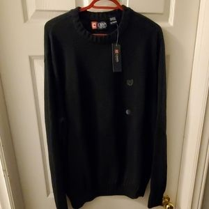 Chaps Sweaters - Men's Tall Size XL Chaps 100% Cotton Crew Neck.